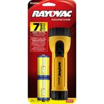 Rayovac Industrial Flashlight - 7 Foot Drop Tested - 17 Lumens - (2) D Batteries Included - I2D-BD*