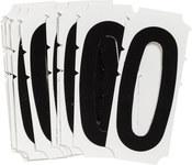 Brady Quik-Align 6500-0 Black Vinyl Number Label - Outdoor - 3 in Height - 3 in Character Height - B-933