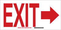 Brady B-401 High Impact Polystyrene Rectangle White Exit Sign - 10 in Width x 7 in Height - 22455