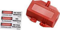 Brady 120 V Red Electrical Plug Lockout 103534 - 754476-17519