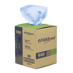 NuTrend TaskBrand V40 Blue DRC Cleaning Wipe - Flat Sheet - Pop-up Dispenser Box - 10 in Overall Length - 12 in Width - NUTREND N-V040CGB