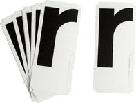 Brady Quik-Align 8265-R Black Vinyl Letter Label - Outdoor - 6 in Height - 6 in Character Height - B-933