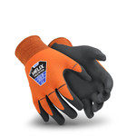 HexArmor Helix 1092 Orange/Gray 6 Nylon Work Gloves - ANSI A1 Cut Resistance - Nitrile Foam Palm & Fingers Coating - 1092-XS (6)