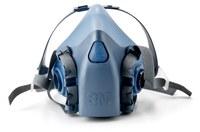 3M 7500 Series 7502 Blue Medium Silicone Half Mask Facepiece Respirator