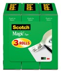 3M Scotch 810-3PK Magic Clear Office Tape - 3/4 in Width x 1296 in Length - 69883