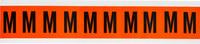 Brady 6560-M Black on Orange Vinyl Letter Label - Indoor / Outdoor - 7/8 in Width - 1 1/2 in Height - 1 in Character Height - B-946