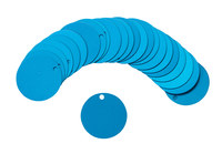 Brady 87606 Blue Circle Aluminum Blank Valve Tag - 1 1/2 in Dia. Width - B-906