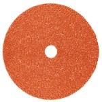 3M Cubitron II 987C Ceramic Orange Fibre Disc - Fibre Backing - 80+ Grit - 4 1/2 in Diameter - 7/8 in Center Hole - 87253