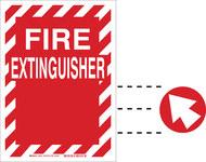 Brady B-555 Aluminum Red Fire Equipment Sign - 10 in Width x 14 in Height - 43355