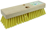 Weiler Green Works 423 Rectangular Scrub Brush - Yellow Bristle - Rubberwood Block - 42371