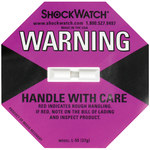 Shipping Supply Purple 37G Shock Watch Indicators - 1.8 in x 1.1 in x.2 in - SHP-8358
