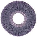 Weiler Silicon Carbide Wheel Brush 0.035 in Bristle Diameter 180 Grit - Arbor Attachment - 6 in Outside Diameter - 2 in Center Hole Size - 20610