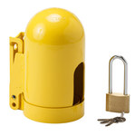 Brady Snap Cap Yellow Powder-Coated Steel Gas Cylinder Lockout Device 95139 - 5.004 in Width - 9.962 in Height - Low Pressure Gas Cylinders Compatibility - 754476-95139