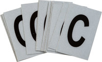 Brady Bradylite 5900-C Black on Silver Letter Label - Outdoor - 1 in Width - 1 1/2 in Height - 1 in Character Height - B-997