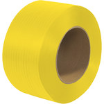 Yellow Poly Strapping - 20000 ft x 0.25 in - SHP-7244