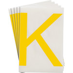 Brady Toughstripe 121756 Yellow Polyester Letter Label - Indoor - 6 in Width - 8 in Height - 8 in Character Height - B-514