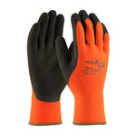 PIP Powergrab 41-1400 Brown/Orange Large Acrylic/Terry Cloth Cold Condition Gloves - Latex Palm & Fingers Coating - 10.2 in Length - Rough Finish - 41-1400/L