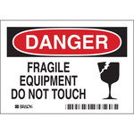 Brady 86136 Polyester Equipment Safety Label - 5 in Width - 3 1/2 in Height - B-302