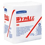 Kimberly-Clark Wypall X80 White Hydroknit Wiper - 1/4 Fold - 50 sheets per pack - 12.5 in Overall Length - 12 in Width - 41026