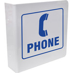 Brady Silk Screened L Shape White Phone Location Sign - 8 in Width x 8 in Height - 45475