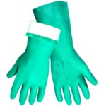 Global Glove 515F Green Nitrile Work Gloves - 13 in Length - Rough Finish - 515F/12