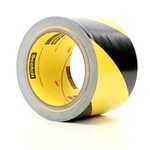 3M 5702 Black / Yellow Warning Tape - Pattern/Text = Striped - 3 in Width x 36 yd Length - 5.4 mil Thick - 68826
