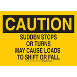 Brady B-555 Aluminum Rectangle Yellow Cargo Safety Sign - 10 in Width x 7 in Height - 129513