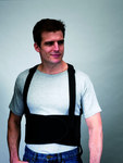 Valeo VEE7 Black Large Back Support Belt - No Lumbar Pad - 7 in Width - 42 to 56 in Waist Sizes - 736097-00541