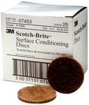 3M Scotch-Brite Non-Woven Aluminum Oxide Brown Hook & Loop Disc - Coarse - 2 in Diameter - 07453