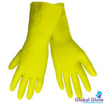Global Glove 150F-E Yellow 9 Latex Work Gloves - 150F-E/9