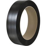 Black Poly Strapping - 9000 ft x 0.5 in - SHP-7211