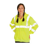 PIP 323-HSSELY Yellow Polyester High Visibility Shirt - Sweatshirt - ANSI Class 3 Rating - Fits 49.6 in Chest - 28.3 in Length - 616314-71638