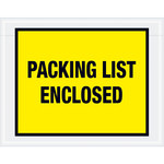 Yellow Packing List Enclosed Full Face Envelopes - 7 in x 5.5 in - 2 Mil Poly Thick - SHP-8207