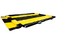 Justrite Quickberm Black/Yellow PVC 250 gal Portable Berm - 10 ft Width - 11 ft Length - 4 in Height - 697841-15686