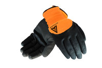 Ansell ActivArmr 97-011 Black/Orange 9 Acrylic/Polyester Cold Condition Glove - Nitrile Palm & Fingers Coating - 112734