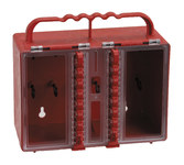 Brady Red Plastic Combined Lock Storage & Group Lock Box 50937 - 8.5 in Width - 7.5 in Height - 12 Padlock Capacity - 754476-50937