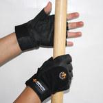 Impacto AV406 Black 9 (L) Grain Leather/Spandex Anti-Impact Work Gloves - 10 in Length - AV40640