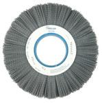 Weiler Silicon Carbide Wheel Brush 0.04 in Bristle Diameter 80 Grit - Arbor Attachment - 10 in Outside Diameter - 3 1/4 in Center Hole Size - 83450
