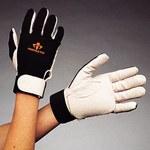 Impacto 42330 Large Leather/Nylon Mechanic's Gloves - 42330010042
