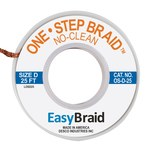 EasyBraid One Step Braid Desoldering Braid - 25 ft Length -.100 in Diameter - OS-D-25