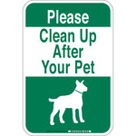 Brady B-555 Aluminum White Keep Clean Sign - 12 in Width x 18 in Height - 115214