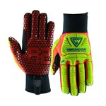 West Chester R2 Safety RigAce 87010 Red/Yellow 3XL Synthetic Leather/Silicone Work Gloves - Silicone Honeycomb Palm Coating - 87010/3XL