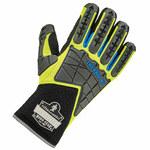 Ergodyne ProFlex Black/Lime Large Neoprene Mechanic's Gloves - TPR Coating - 925WP LG