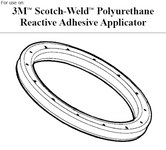 3M Scotch-Weld End Cap Seal - For Use With PUR Adhesive Applicator Compatible Parts: End Cap - 89477