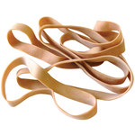 Shipping Supply Brown Rubber Bands - 5 in x 5/8 in - SHP-13127