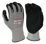 Armor Guys Kyorene 00-001 Gray/Black Large Graphene Cut-Resistant Gloves - ANSI 1 Cut Resistance - Nitrile Foam Palm & Fingers Coating - 00-001 LG
