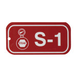 Brady 105649 White on Red Polystyrene Steam Energy Source Tag - 3 in Width - 1 1/2 in Height - B-401
