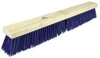 Weiler 421 Push Broom Head - Blue Polypropylene Coarse 3 1/4 in Bristle - 24 in Hardwood Block - 44590