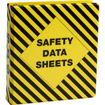 Brady Black on Yellow MSDS & GHS Data Sheet Binder - MATERIAL SAFETY DATA SHEETS - English - 754476-58678