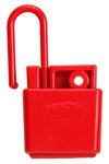 Brady Red Xenoy Lockout/Tagout Hasp 45582 - 2.5 in Width - 4.77 in Height - 1 Padlock Capacity - 754476-45582